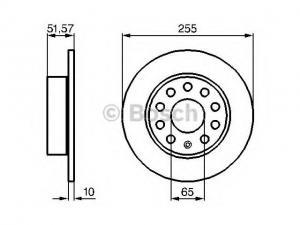 SEAT LEON SEAT LEON (1P1) 1.6 TDI, SEAT LEON (1P1) 1.6 TD... / Féktárcsa