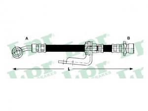 HONDA CR-V HONDA CR-V I (RD) 2.0 16V (RD1, RD3), HONDA CR...Gumifékcső (Autó - Fék - Bovdenek, csövek, vezetékek)