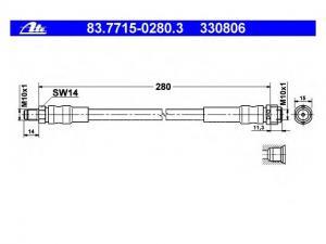 MERCEDES-BENZ W 140 MERCE S-CLASS (W140) 400 SE, SEL/S420...Gumifékcső (Autó - Fék - Bovdenek, csövek, vezetékek)