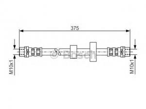 VOLKSWAGEN TRANSPORTER VW TRANSPORTER IV Busz (70XB, 70XC...Gumifékcső (Autó - Fék - Bovdenek, csövek, vezetékek)