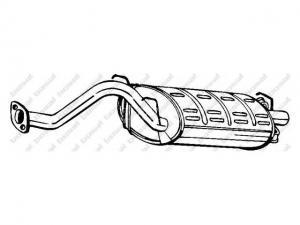 HONDA CIVIC HONDA CIVIC VI Fastback (MA) 1.6 i (MB1), HON... / Kipufogódob, hátsó