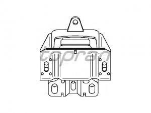 VOLKSWAGEN GOLF IV VW GOLF IV (1J1) 1.9 TDI, VW GOLF IV (... / Motortartó bak